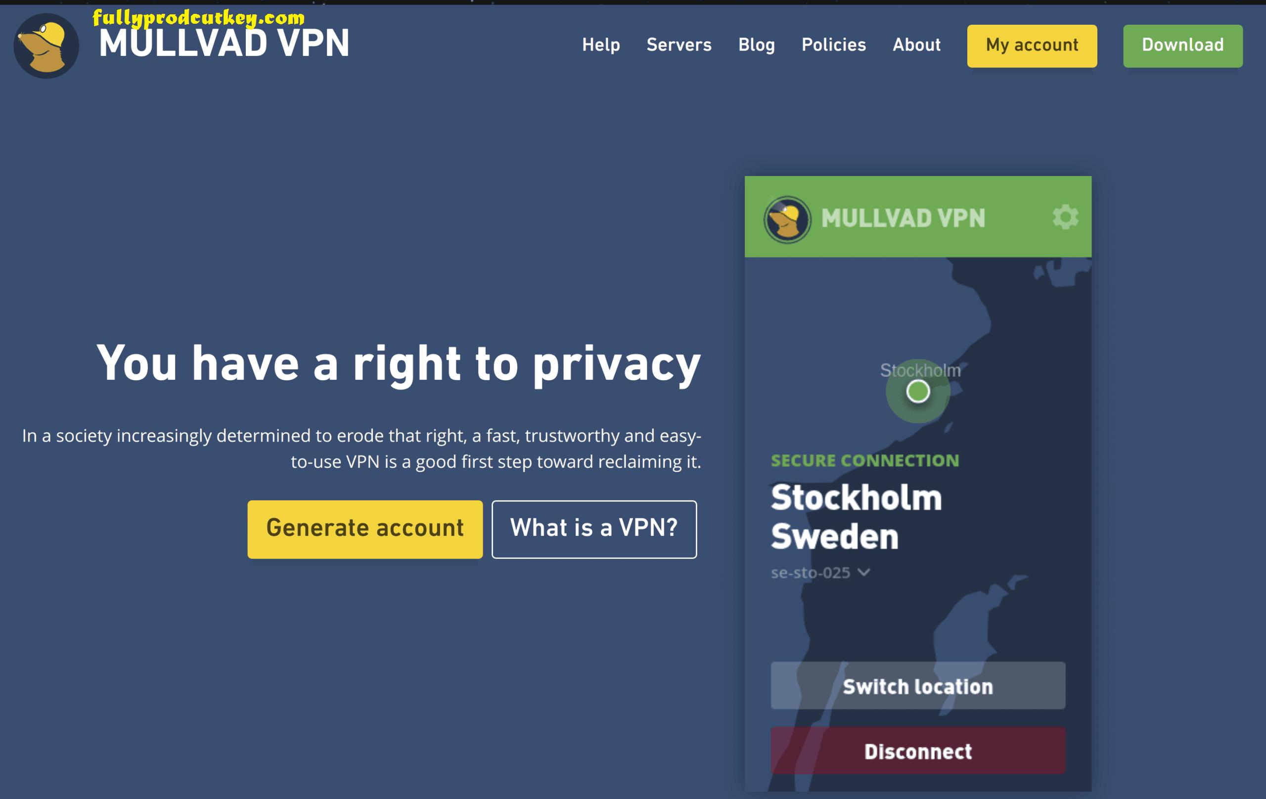 Mullvad VPN Crack 2021.1 Plus Full Version Key Download