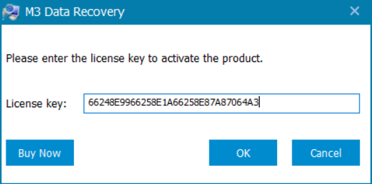 M3 Data Recovery License Key